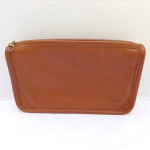 VINTAGE COACH BRITISH TAN GLOVE LEATHER POUCH
